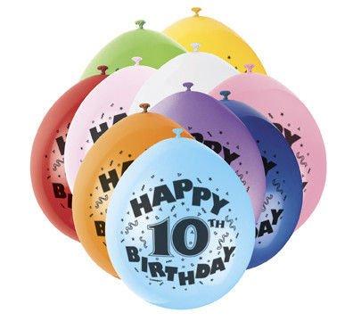 Balony Urodzinowe 10 Lat Mix Kolorów 10sztop 1540 Dekoracje