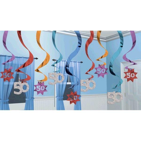 Spirale 50 Lat Ozdoby Metalizowane 291 Dekoracje Urodzinowe I