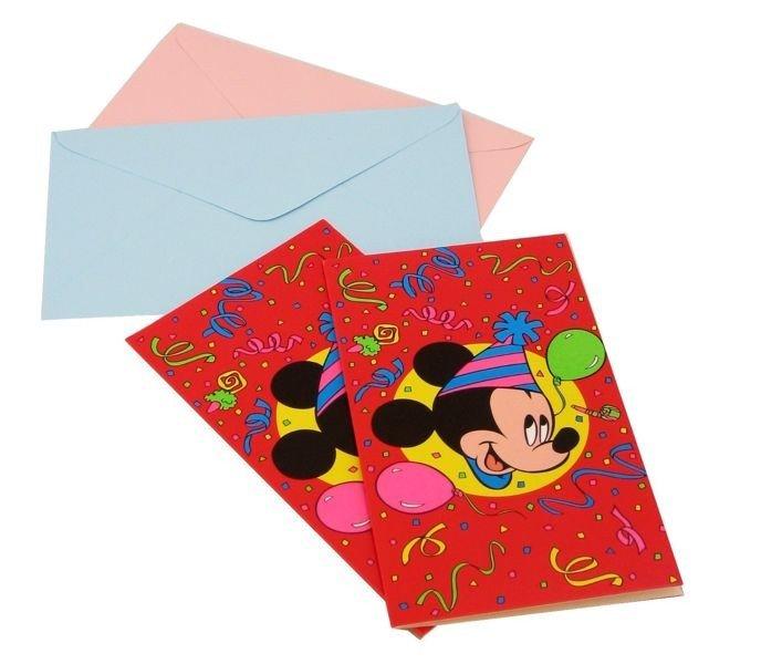 Zaproszenia Z Kopertami Myszka Miki 6sztop 3191 Dekoracje