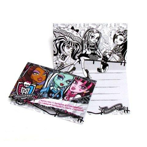 Zaproszenia Z Kopertami Monster High 6sztop 1762 Dekoracje