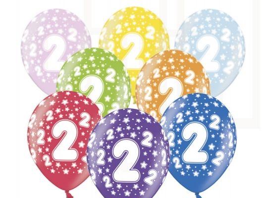 Balony Na 2urodziny Dziecka 6sztop 813 Dekoracje Urodzinowe