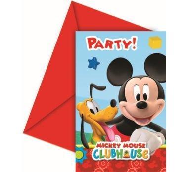 Zaproszenia Urodzinowe Disney Myszka Miki 6sztop 364